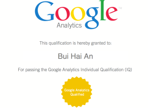 Google Analytic Qualified Individual